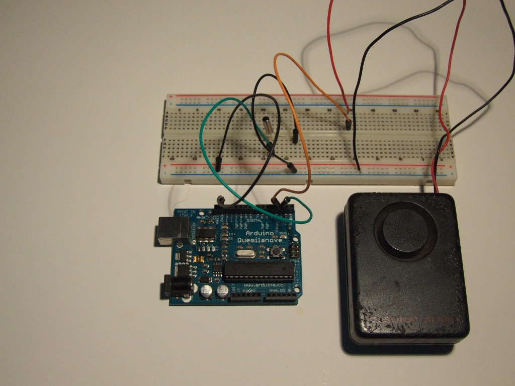 Tilt Sensor Starter Kit For Sound Alarm This Is The Circuit Code Isnt Much Different From Previous Except Additional Procedures
