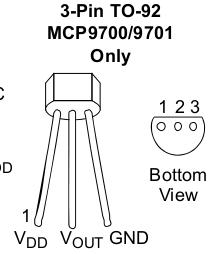 MCP9700 pinout