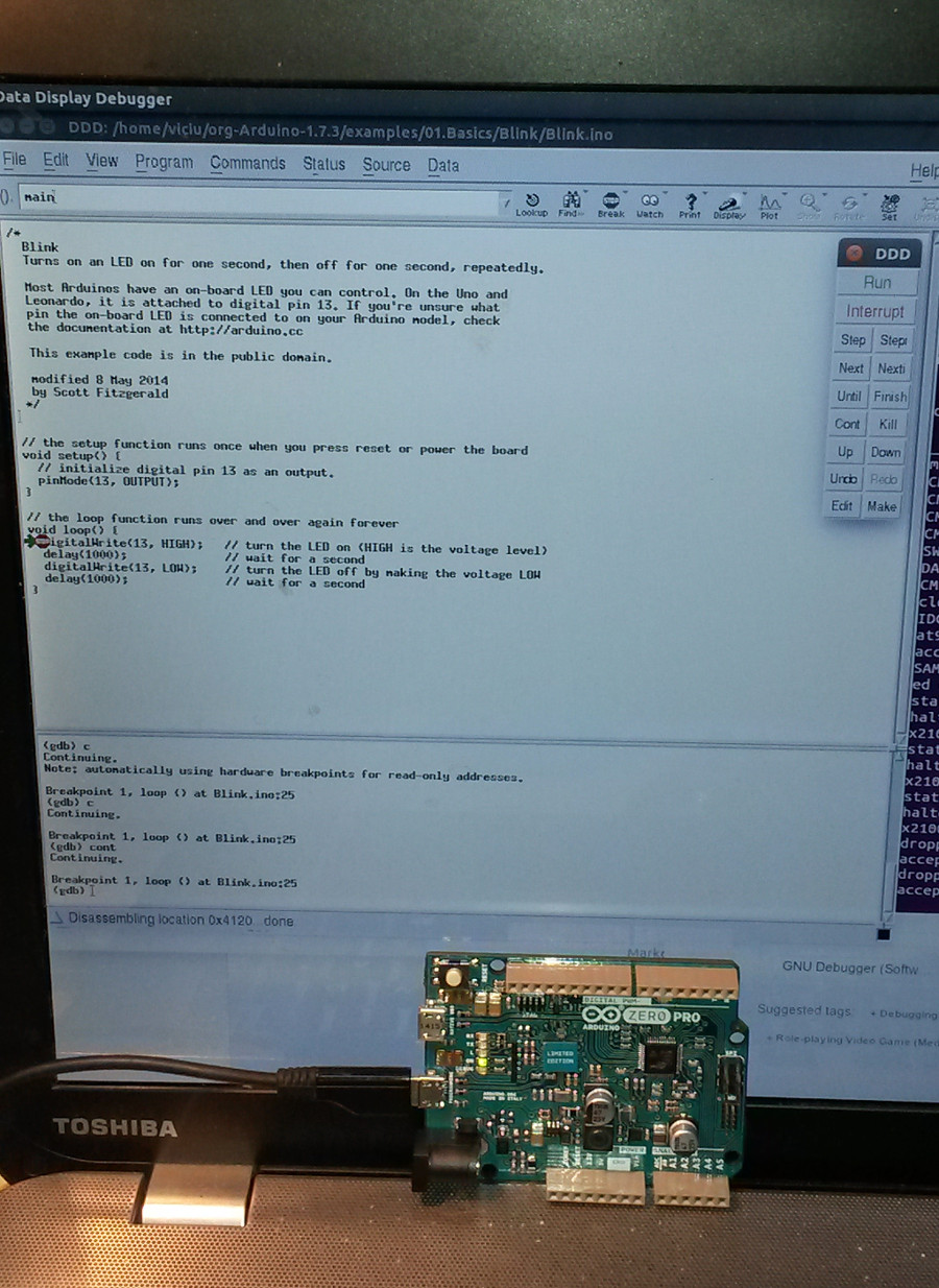Debug sketch on Arduino Zero Pro with GDB and OpenOCD