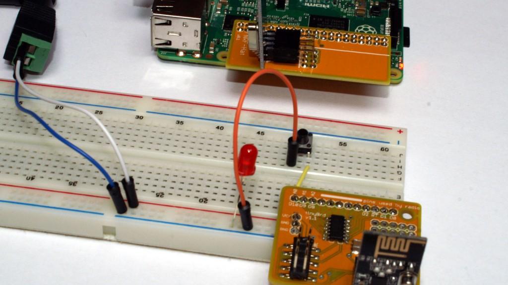 Nettigo tinyBrd i Raspberry Pi z NRF-Hat